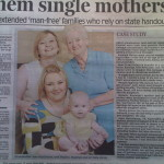 The generations of single mums…
