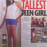 Meet Britain's tallest girl…