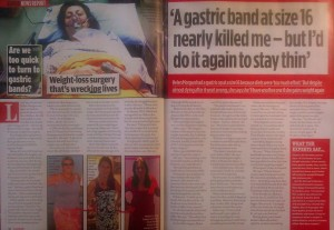 Gastric band almost killed me