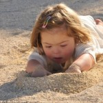 Natty Playing in the Sand
