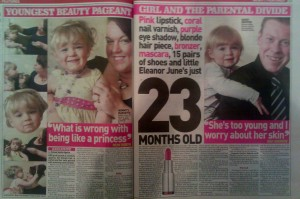 Miss Mini Princess UK entrant - Sunday People story