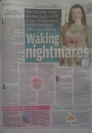 Waking Nightmare - Elizabeth Earle - Daily Mail Good Health