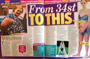 From fat to Anorexic - story in Chat magazine