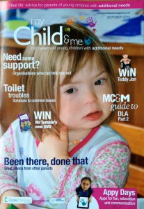 Natty on the cover of My Child & Me