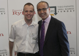 Neil Westwood with Theo Paphitis